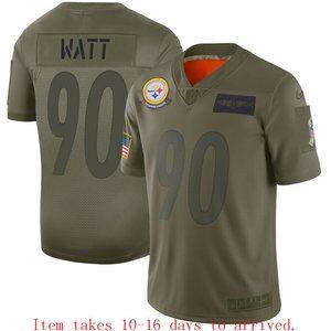 Steelers #90 T.J. Watt Jersey Camo
